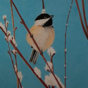 Chickadee on Snowy Branch (14 1:2x19 1:2)jpg