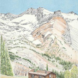 Pioneer Cabin Colored Pencil (8 1:2x12)