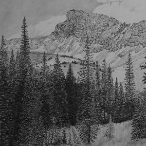 Old Hyndman, Pioneer Mountains (13 x 22)