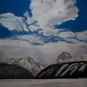 Winter's Day, Redfish Lake, Stanley Idaho (19x25)