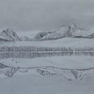 Little Redfish Lake Reflection