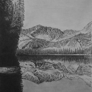 Moose Lake Reflection_graphite